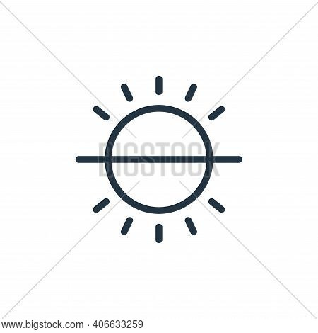 brightness icon isolated on white background from photography collection. brightness icon thin line