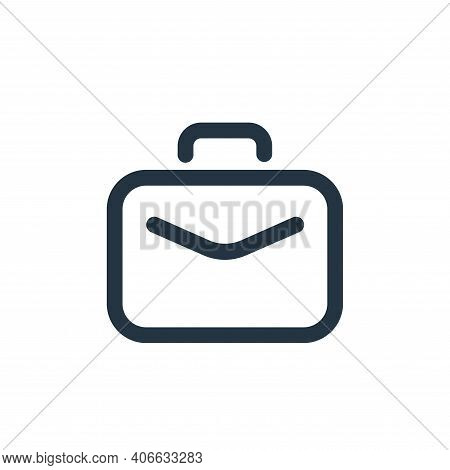 briefcase icon isolated on white background from seo collection. briefcase icon thin line outline li