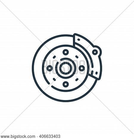 brakes icon isolated on white background from auto racing collection. brakes icon thin line outline