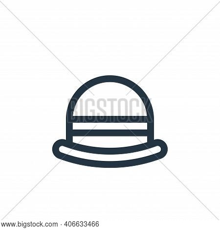 bowler hat icon isolated on white background from england collection. bowler hat icon thin line outl