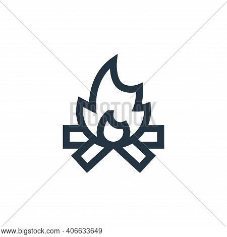 bonfire icon isolated on white background from hippies collection. bonfire icon thin line outline li