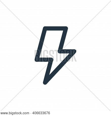 bolt icon isolated on white background from user interface collection. bolt icon thin line outline l