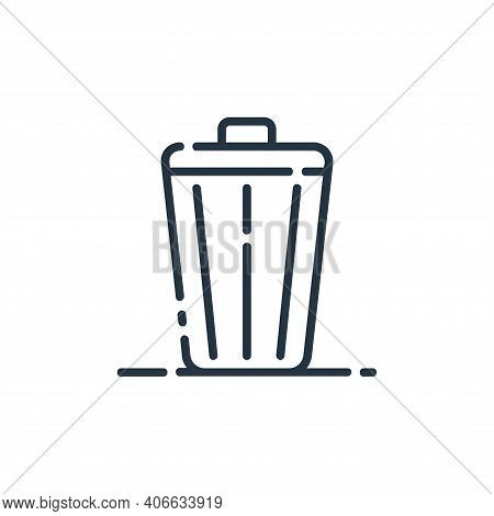 bin icon isolated on white background from user interface collection. bin icon thin line outline lin