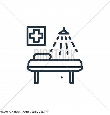 beds icon isolated on white background from mass disinfection collection. beds icon thin line outlin