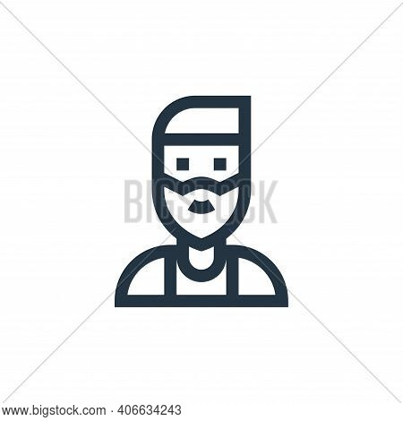 beard icon isolated on white background from people collection. beard icon thin line outline linear
