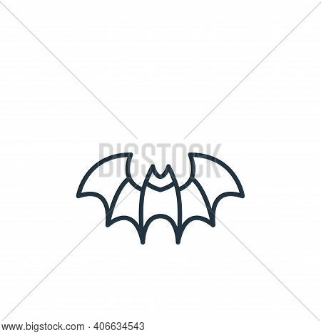 bat icon isolated on white background from coronavirus disease collection. bat icon thin line outlin