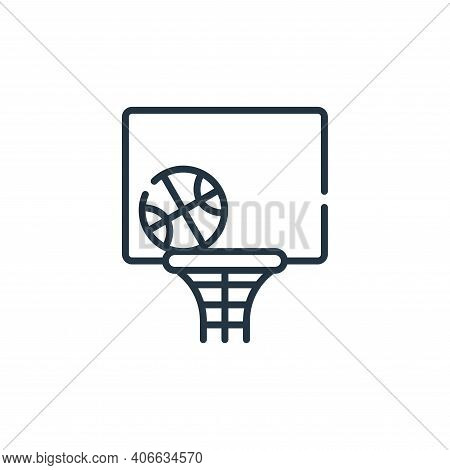 basketball icon isolated on white background from free time collection. basketball icon thin line ou
