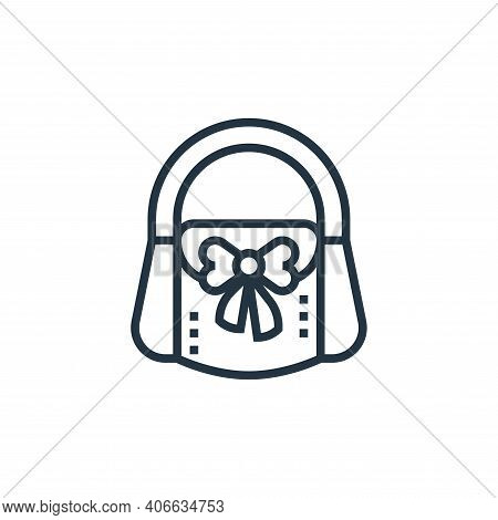 bag icon isolated on white background from sewing equipment collection. bag icon thin line outline l