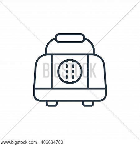 bag icon isolated on white background from retirement collection. bag icon thin line outline linear
