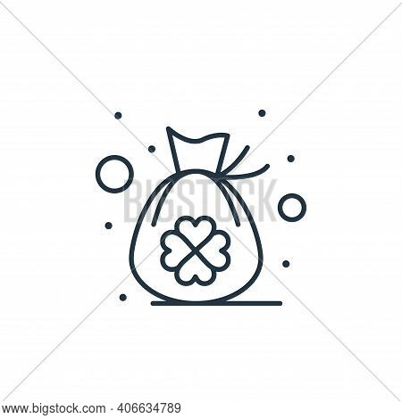 bag icon isolated on white background from saint patrick collection. bag icon thin line outline line