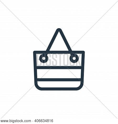 bag icon isolated on white background from holiday collection. bag icon thin line outline linear bag
