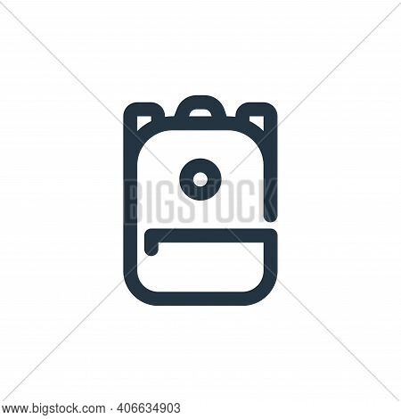 backpack icon isolated on white background from school collection. backpack icon thin line outline l