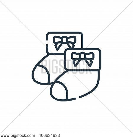 baby socks icon isolated on white background from maternity collection. baby socks icon thin line ou
