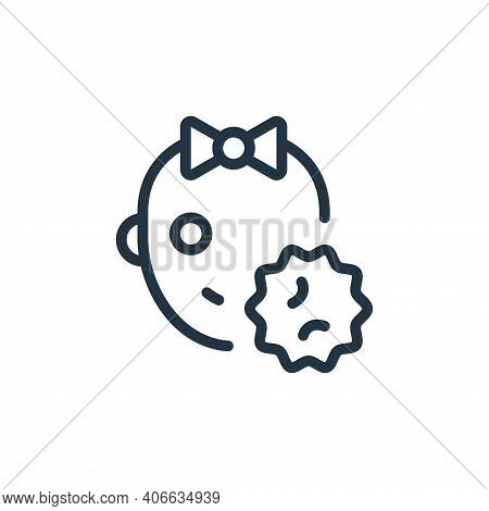 baby girl icon isolated on white background from coronavirus collection. baby girl icon thin line ou