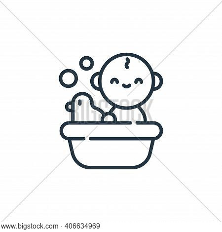 baby icon isolated on white background from family life collection. baby icon thin line outline line