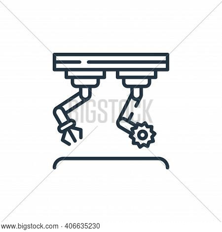 assembly icon isolated on white background from industrial process collection. assembly icon thin li