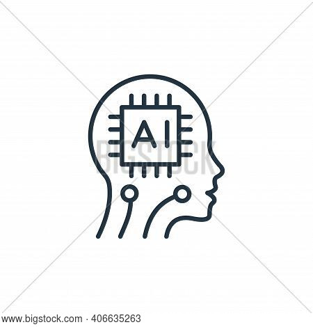 artificial intelligence icon isolated on white background from robotics collection. artificial intel