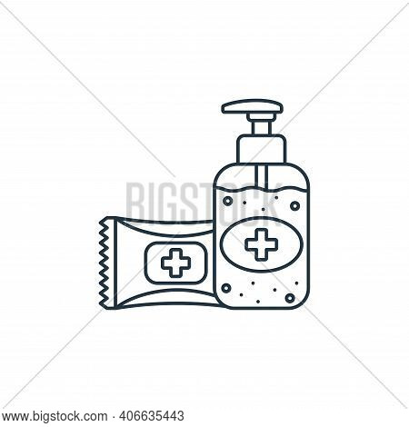 antibacterial gel icon isolated on white background from coronavirus covid collection. antibacterial