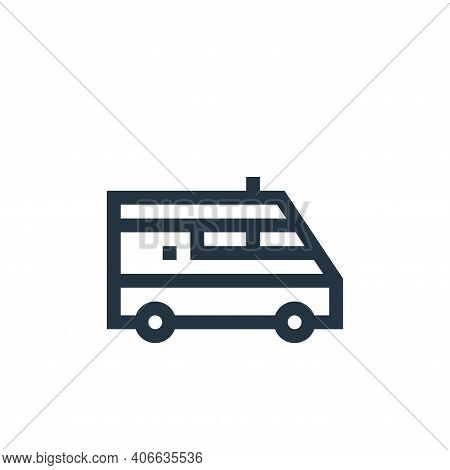 ambulance icon isolated on white background from insurance collection. ambulance icon thin line outl