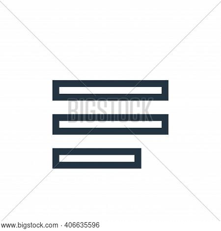 align left icon isolated on white background from text editor collection. align left icon thin line