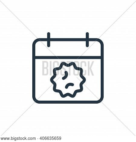 alert icon isolated on white background from coronavirus collection. alert icon thin line outline li