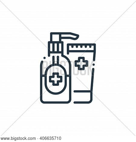 alcohol icon isolated on white background from virus spread collection. alcohol icon thin line outli