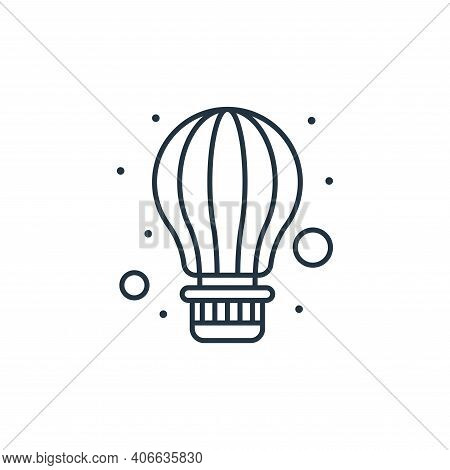 air balloon icon isolated on white background from brazilian carnival collection. air balloon icon t