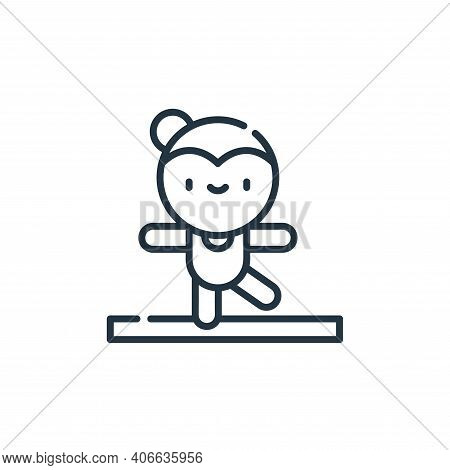 acrobat icon isolated on white background from circus collection. acrobat icon thin line outline lin