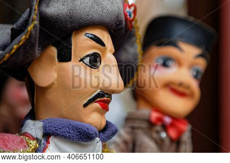 Lyon, France, February 4, 2016 : Guignol Theater. 200 Years After Creation, Original Spirit Of The P