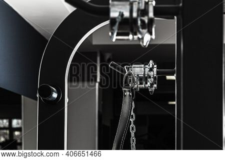 Weightlifting Belt On A Training Apparatus Close Up