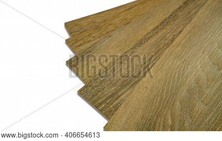 Vinyl Tiles Stack For Home Interior Design For House Renovation. New Wooden Pattern Vinyl Tile. Viny