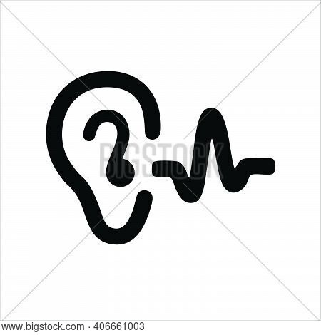 Ear Icon Isolated On White Background From Medical Collection. Trendy Ear Icon And Modern Ear Symbol