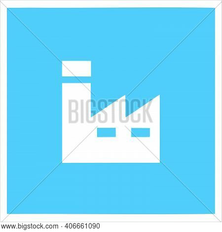 Factory Icon Isolated On White Background For Office Collection. Trendy And Modern Factory Icon Fact