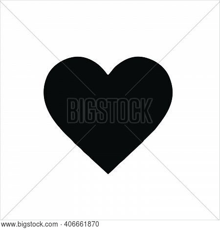 Black Heart Icon Isolated On White Background. Heart Icon Eps. Heart Icon Image. Heart Icon Logo. He