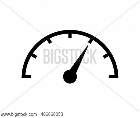 Speed Speedometer Or Tachometer Icon. Measuring Speed Symbol Isolated. Vector Eps 10