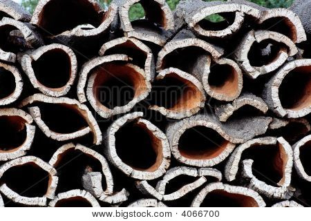 Pile Of Cork Oak Bark
