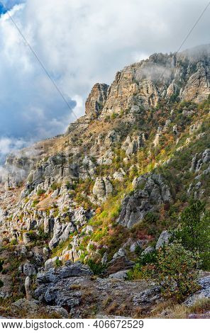 Valley Of Ghosts In The Crimea Mountains On An Autumn Day