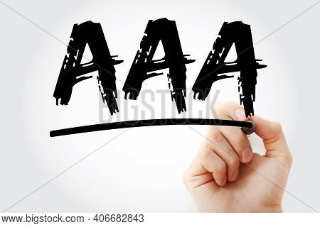 Aaa - Abdominal Aortic Aneurysm Acronym With Marker, Medical Concept Background