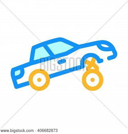 Car Rapper Color Icon Vector Illustration Flat