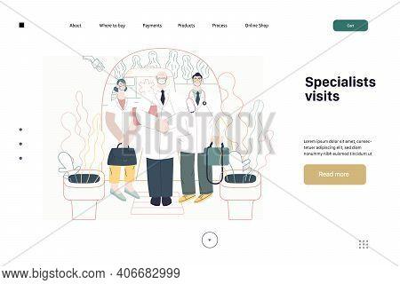 Medical Insurance -specialists Visit -modern Flat Vector Concept Digital Illustration - Medical Spec