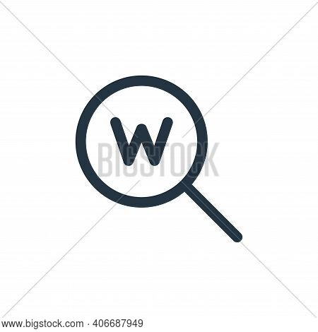 www icon isolated on white background from web apps seo collection. www icon thin line outline linea