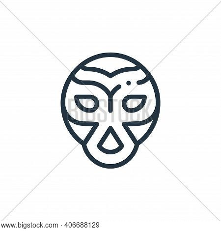 wrestling icon isolated on white background from mexico collection. wrestling icon thin line outline