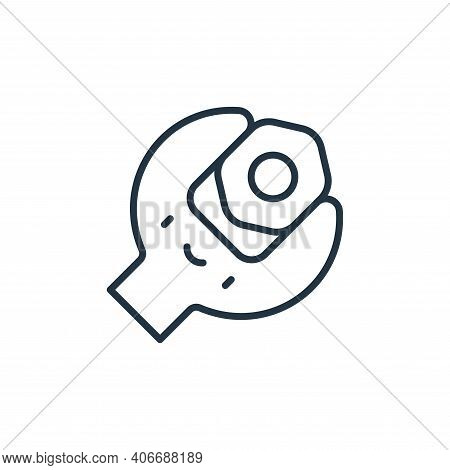 wrench icon isolated on white background from labour day collection. wrench icon thin line outline l