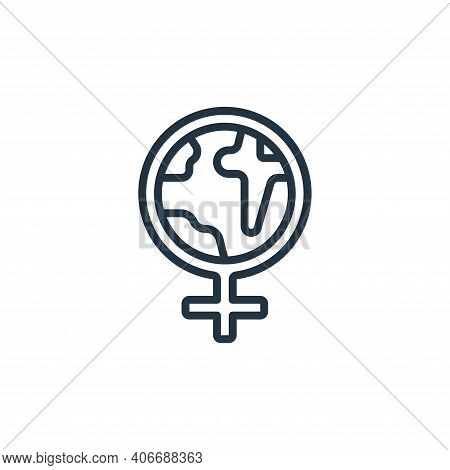 world icon isolated on white background from womens day collection. world icon thin line outline lin