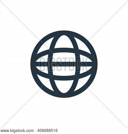 world icon isolated on white background from marketing business collection. world icon thin line out