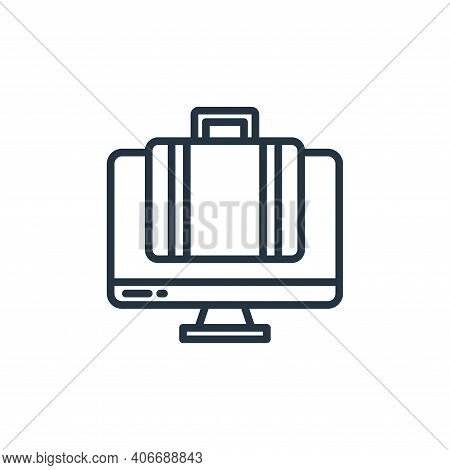 working icon isolated on white background from stay at home collection. working icon thin line outli
