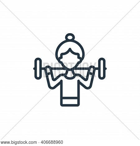 woman icon isolated on white background from womens day collection. woman icon thin line outline lin