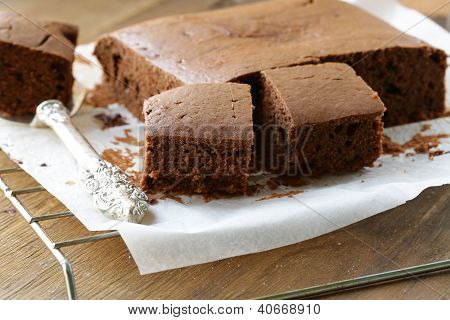 Delicious homemade chocolate cake brownie