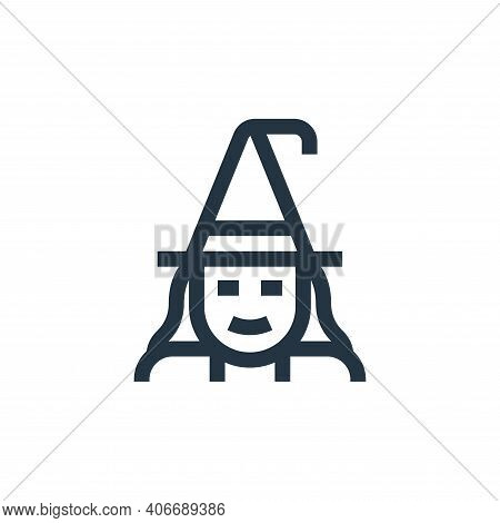 witch icon isolated on white background from fantastic characters collection. witch icon thin line o