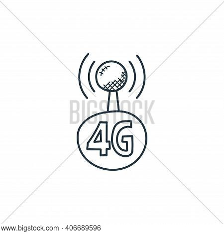 wireless icon isolated on white background from technology collection. wireless icon thin line outli